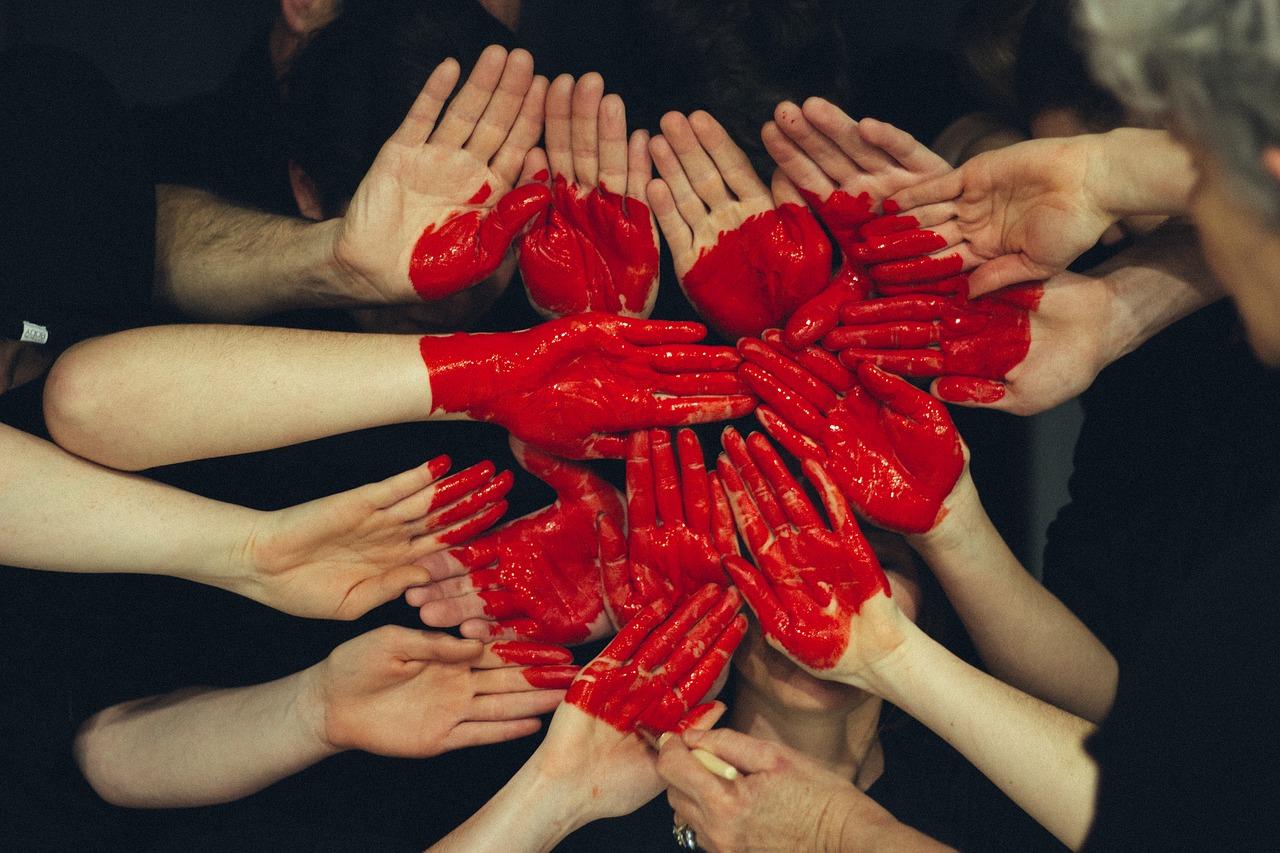 Hände Herz Farbe